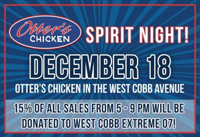 Otter's Chicken Fund Raiser - West Cobb Extreme 12U