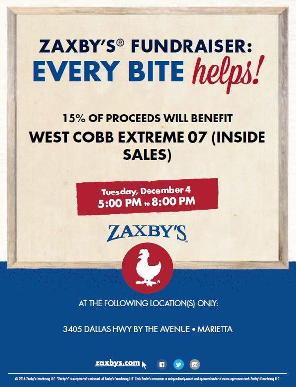 Zaxby's Fund Raiser - WCE 12U 07