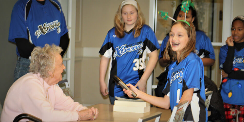 West Cobb Extreme 12U 07 Softball Team Spreads Holiday Cheer
