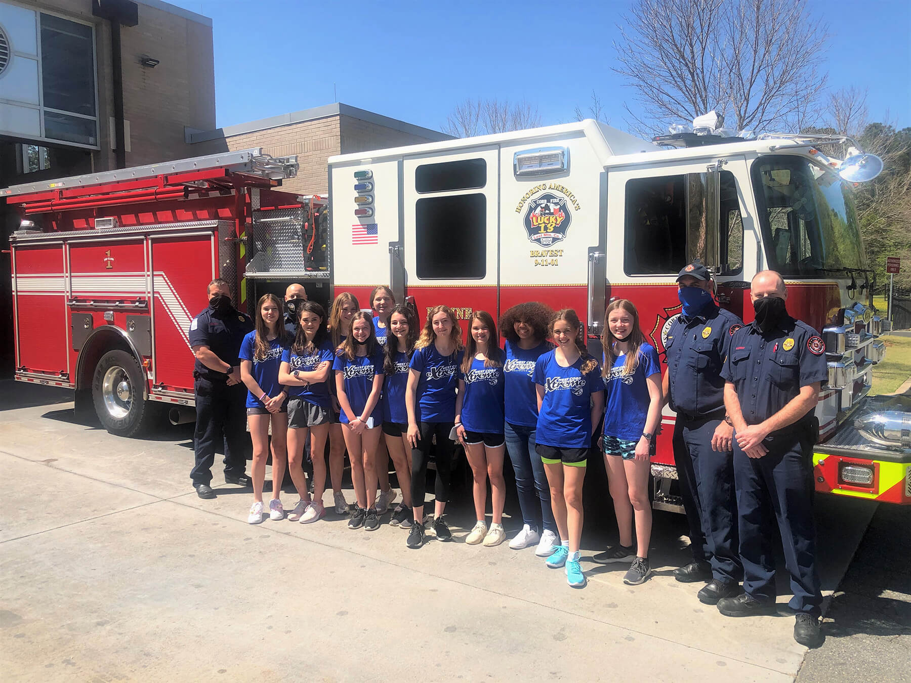 West Cobb Extreme 07 Softball Team Delivers Thanks and Gift Baskets to Local Firehouses